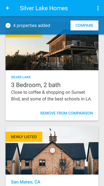 Google UX/UI mobile app properties