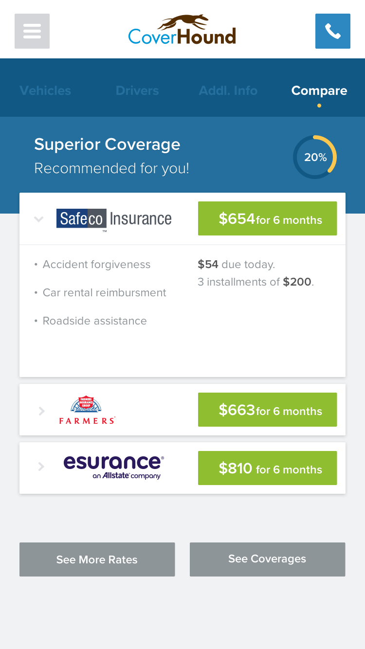 CoverHound insurance comparison
