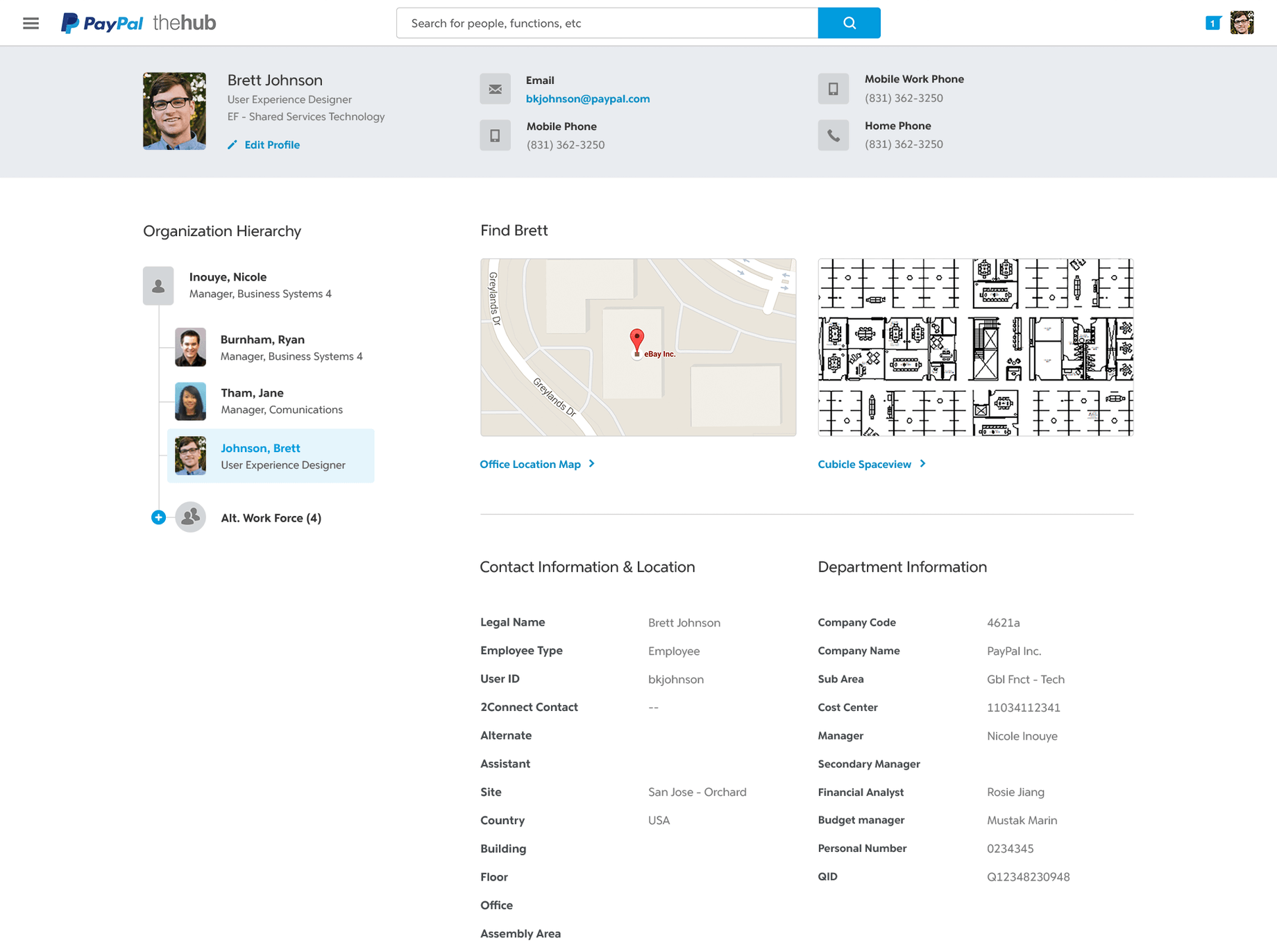 PayPal employee profile
