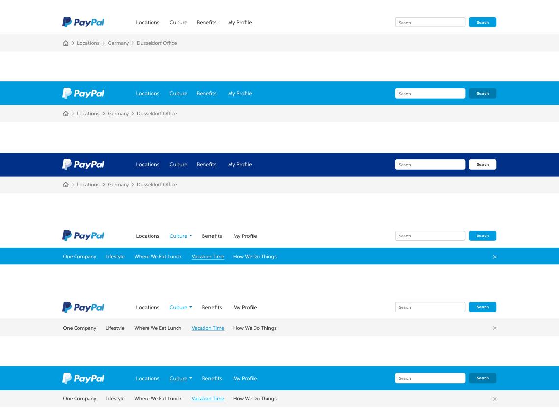 PayPal navigation