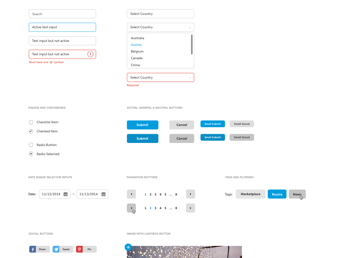 PayPal input elements